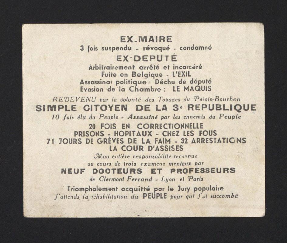 French cartes de visite, ca. 1890-1930. FC9.D4751.Q890c image 5 verso