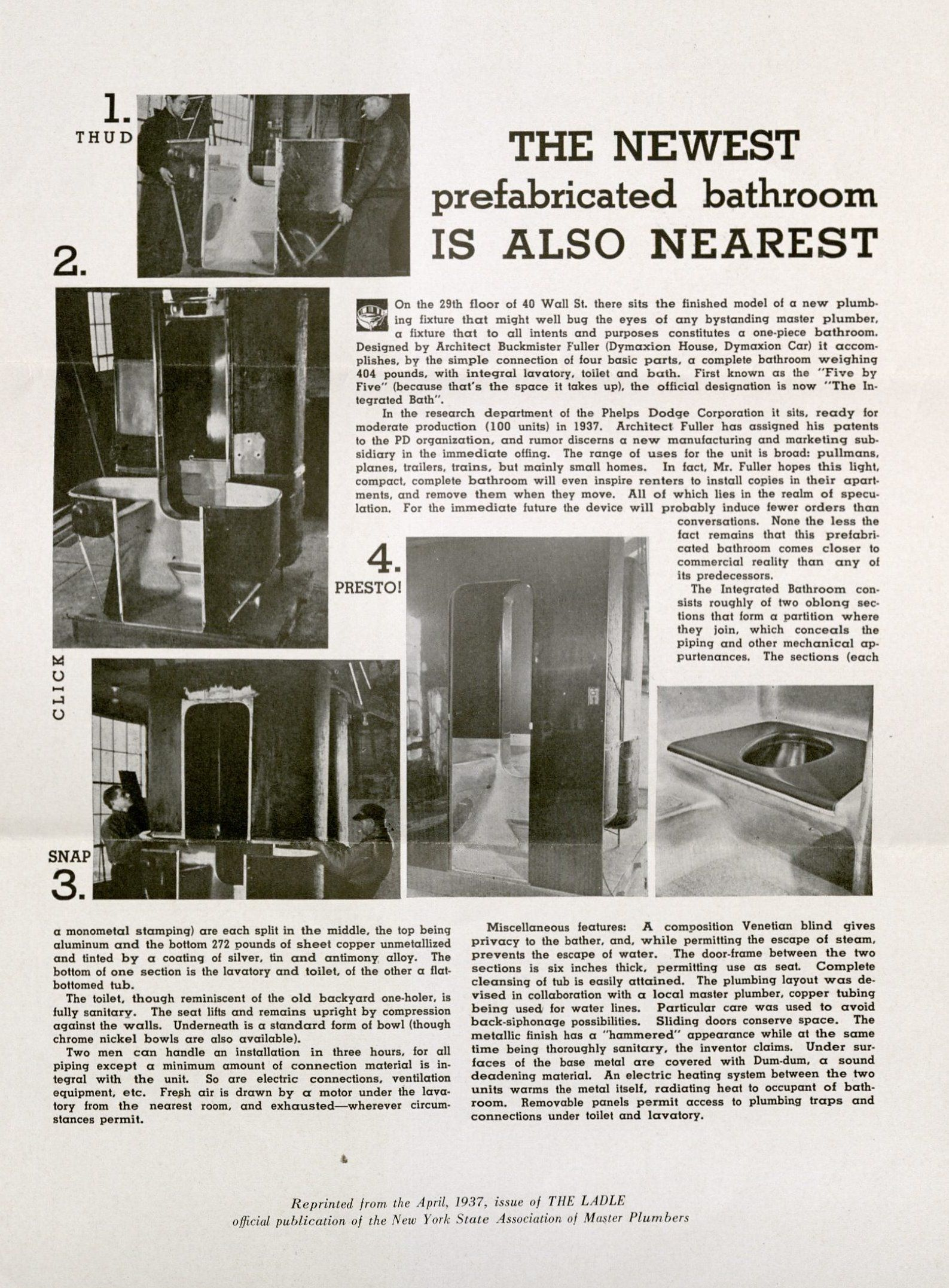 Advertisements for the integrated bathroom, 1937. MS Am 1627 (2)
