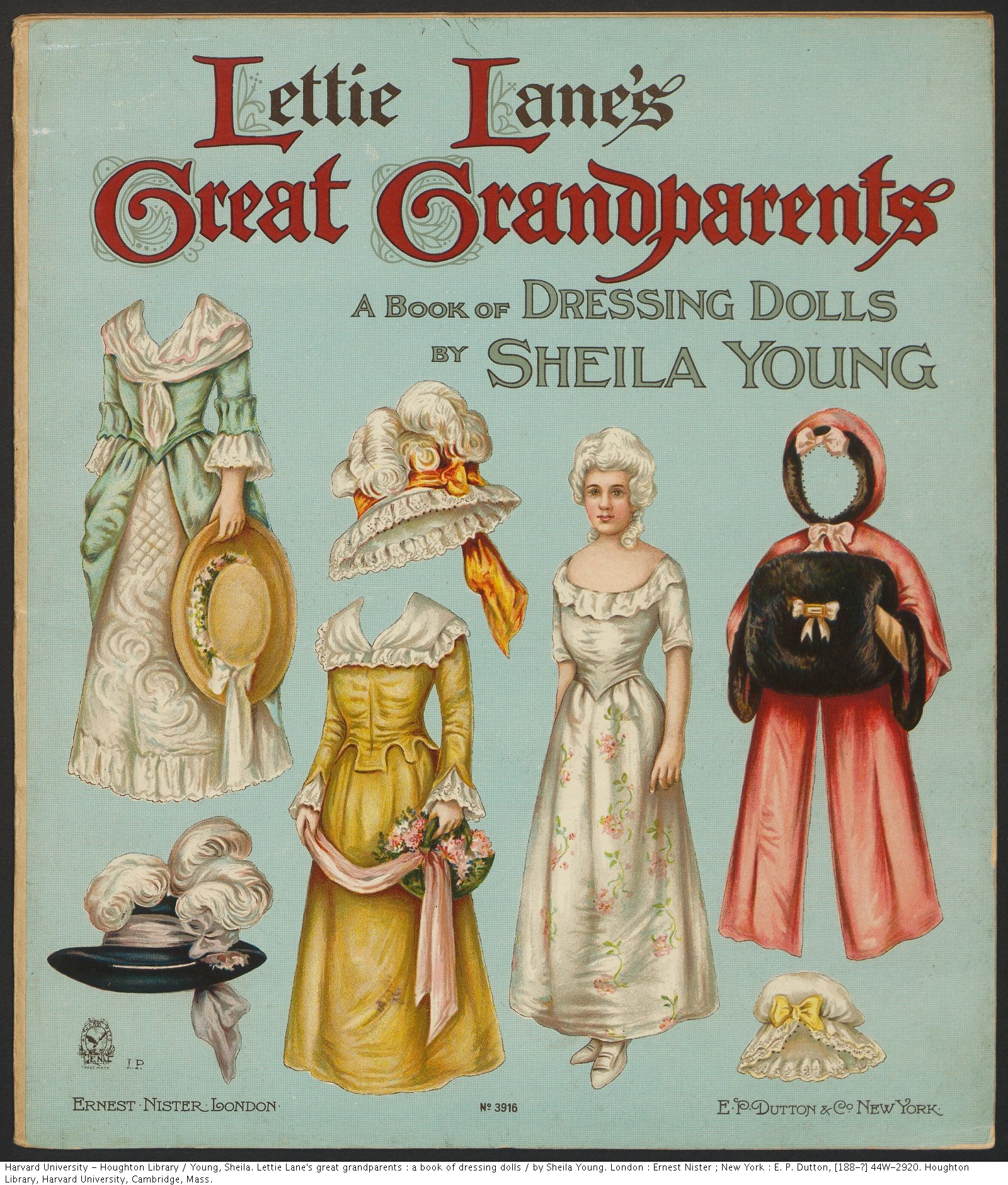 Young, Sheila. Lettie Lane's great grandparents : a book of dressing dolls. 44W-2920