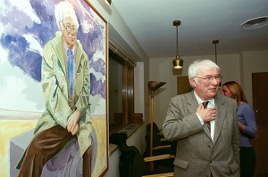 Seamus Heaney at the Woodberry Poetry Room, 2000. Courtesy of Harvard Gazette