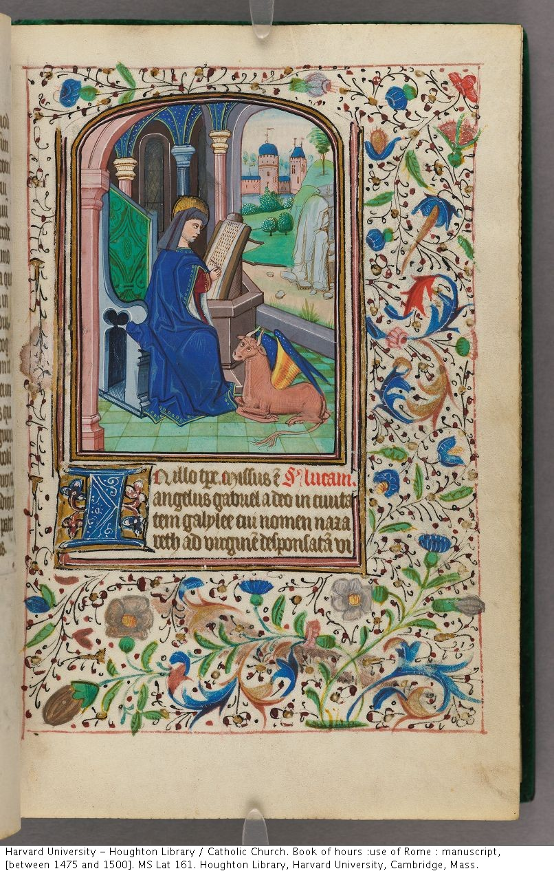 Catholic Church. Book of hours :use of Rome : manuscript, [between 1475 and 1500]. MS Lat 161