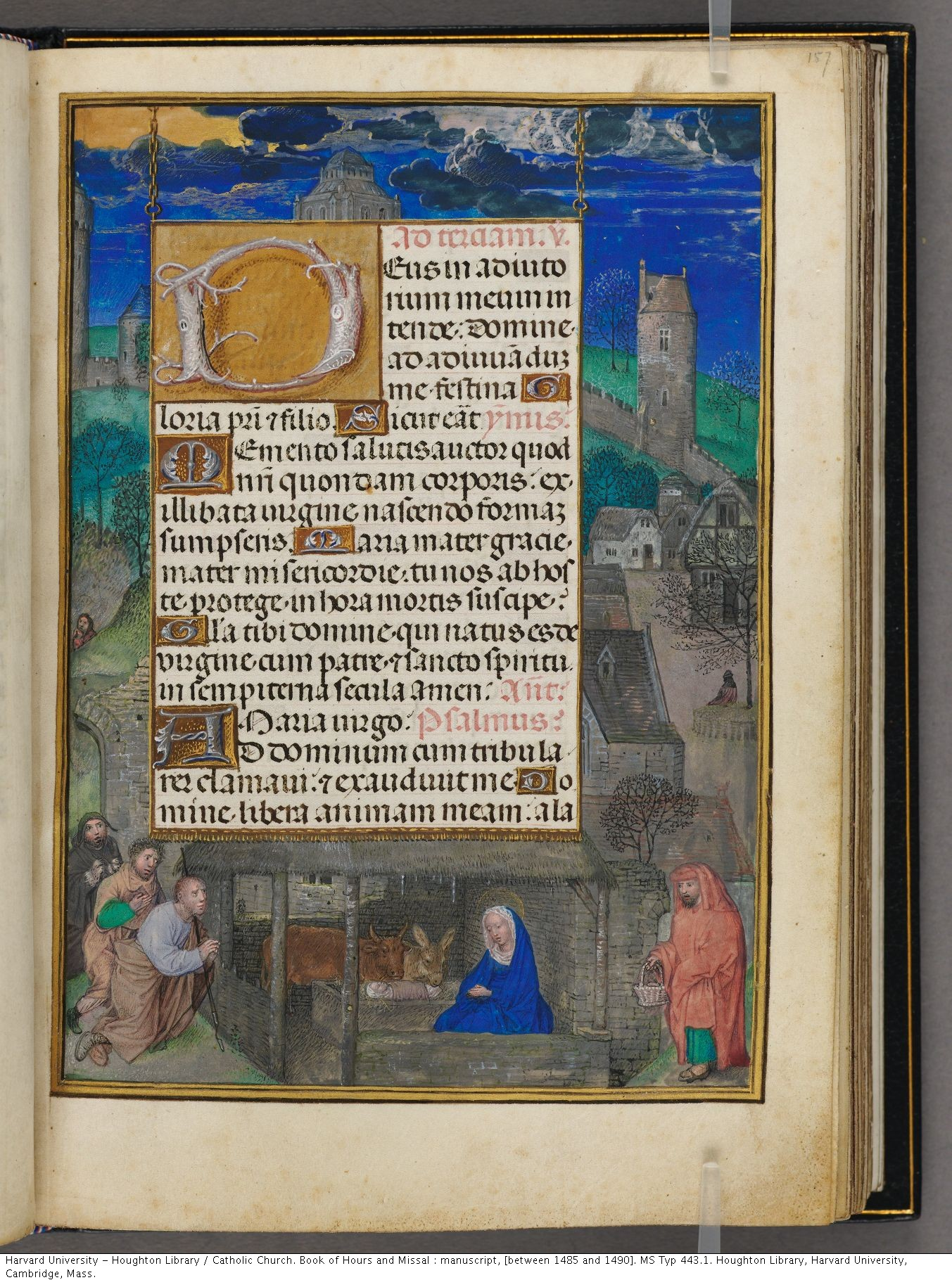 Catholic Church. Book of Hours and Missal : manuscript, [between 1485 and 1490]. MS Typ 443.1