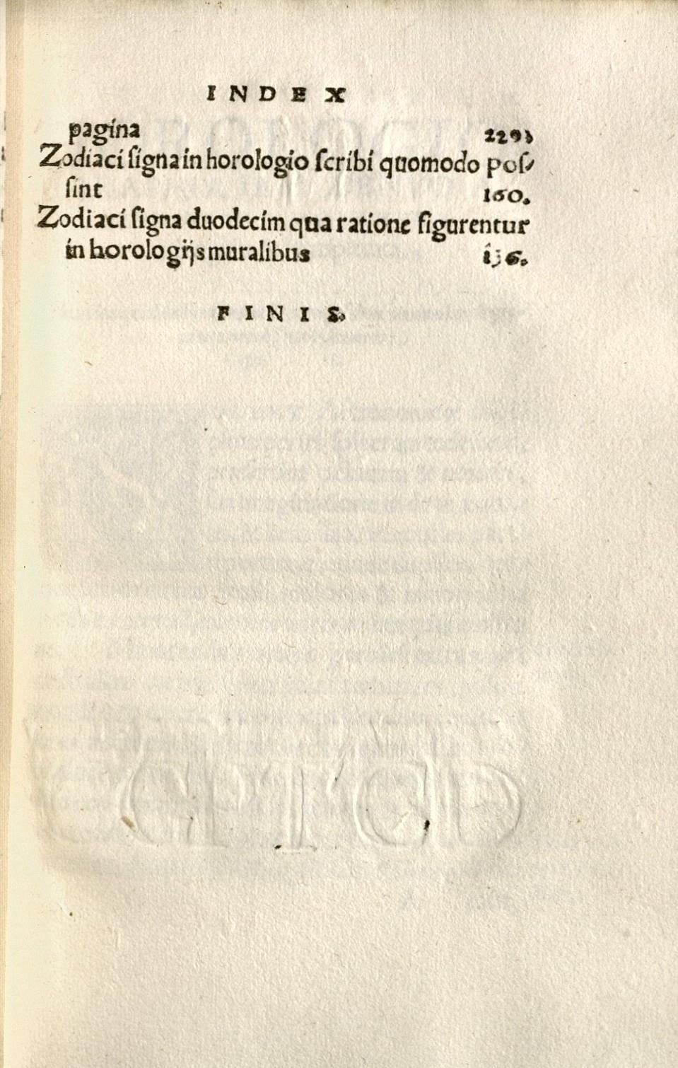 Münster, Sebastian, 1489-1552. Horologiographia. Typ 565.33.584 (B)