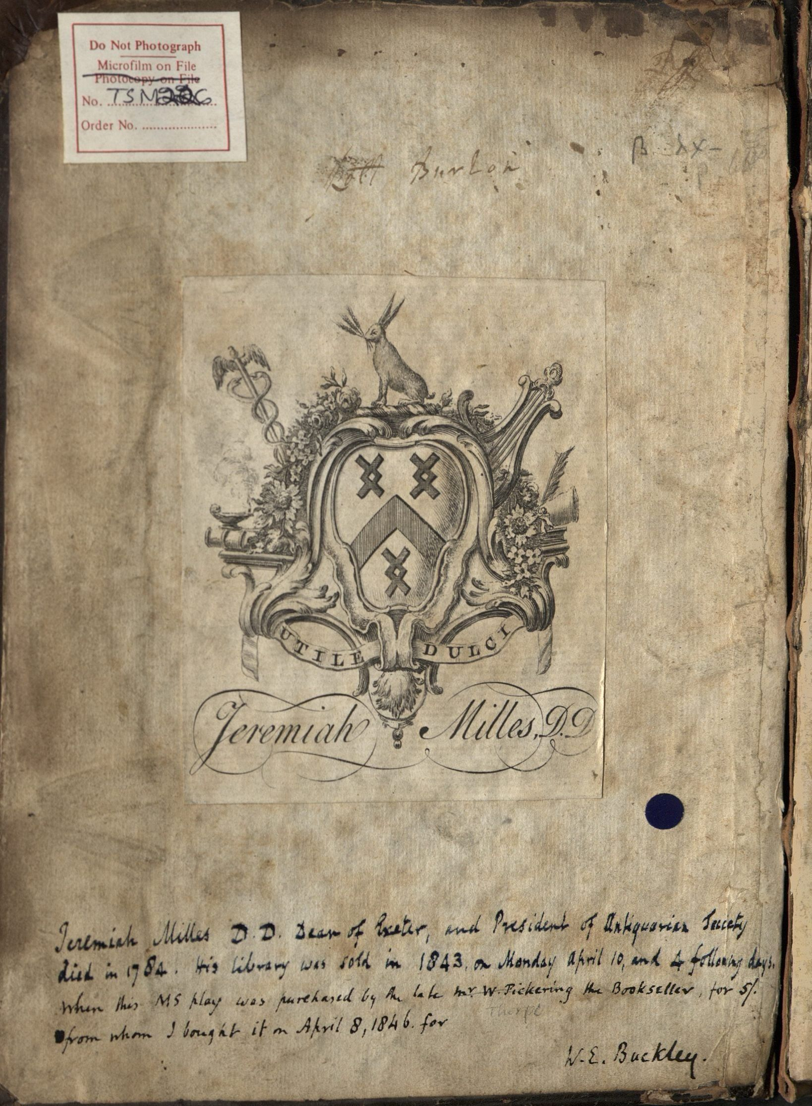 MS Thr 10, inside front cover