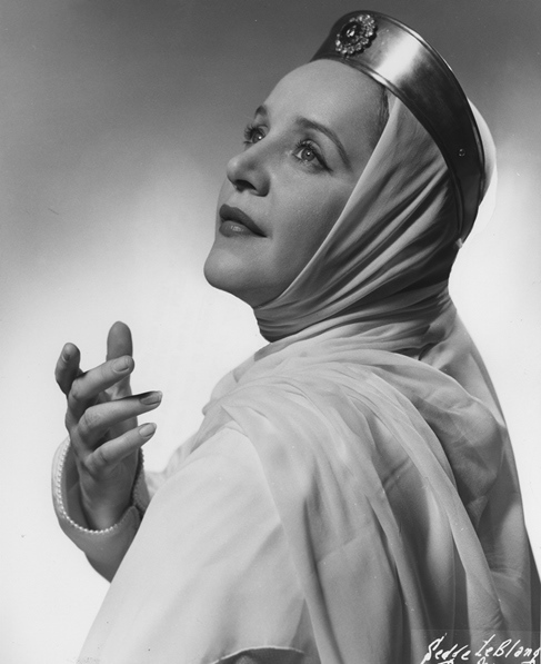 Eleanor Steber as Elsa in Wagner's Lohengrin. Photograph by Sedge LeBlang, [1953]. 2006MT-18