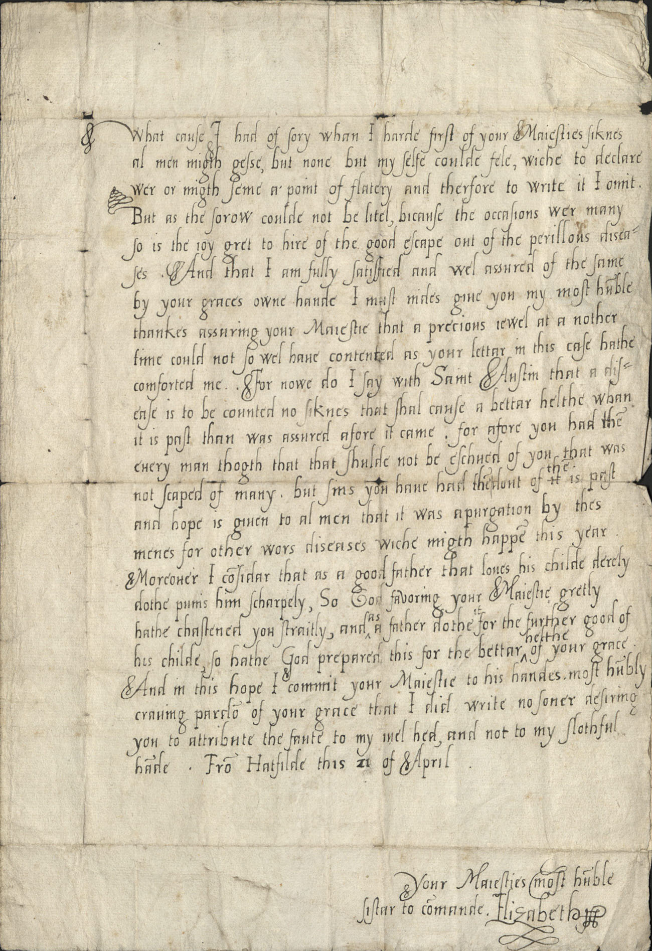 Letter from Elizabeth I of England to King Edward VI (pf MS Typ 686)_Page_2