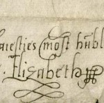Signature of Elizabeth I (pf MS Typ 686)