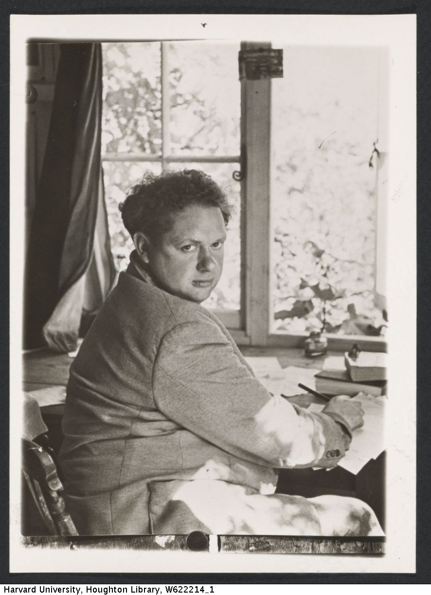 Dylan Thomas, photograph by Angus McBean.