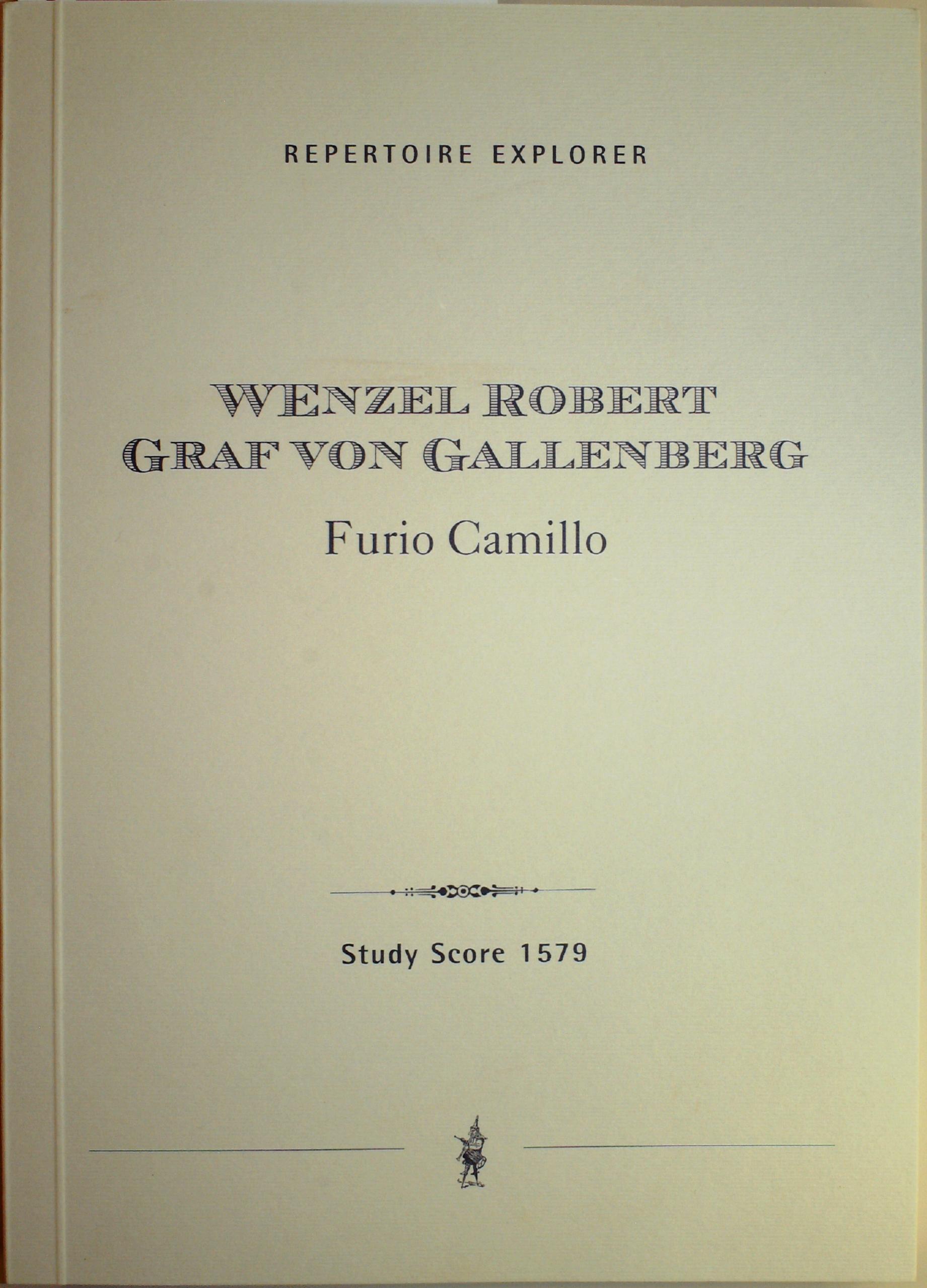Gallenberg printed Furio Camillo cover