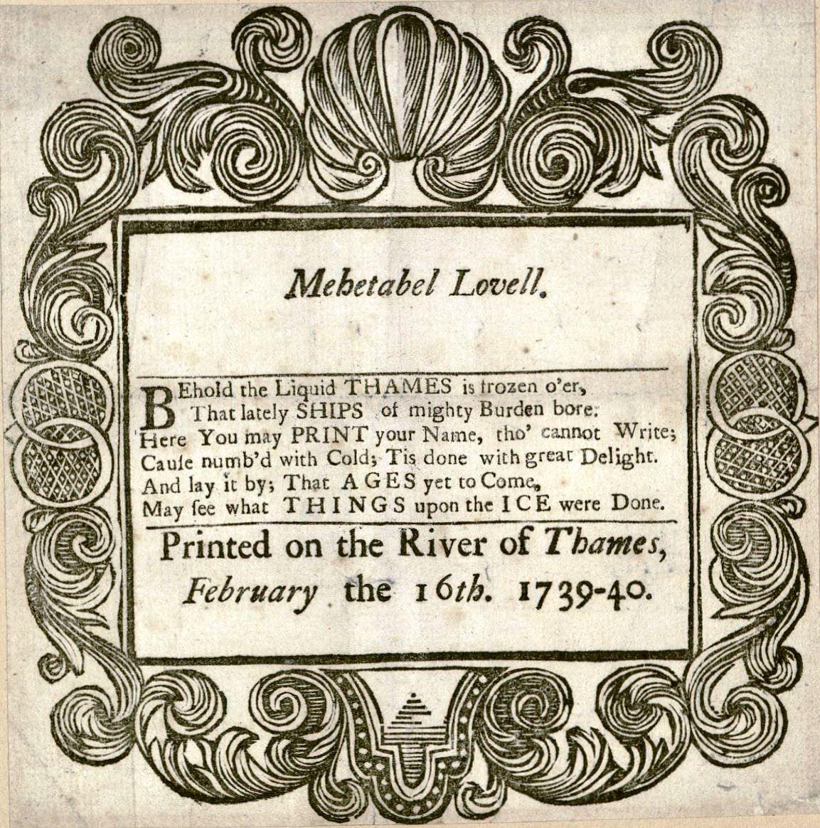 Mehetabel Lovell … (1740). Houghton EB7.A100.740m