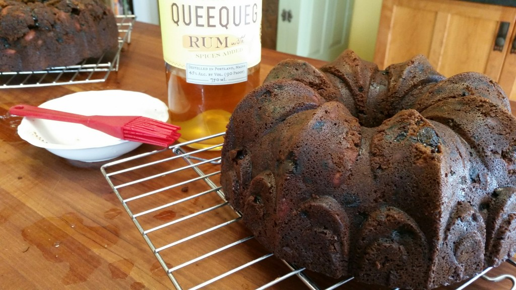 baked cake with queequeg rum