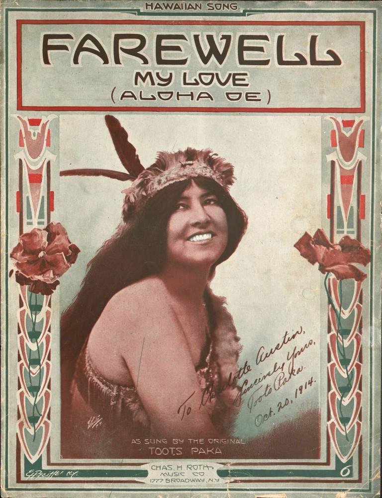 Sheet music for Farewell My Love (Aloha Oe)