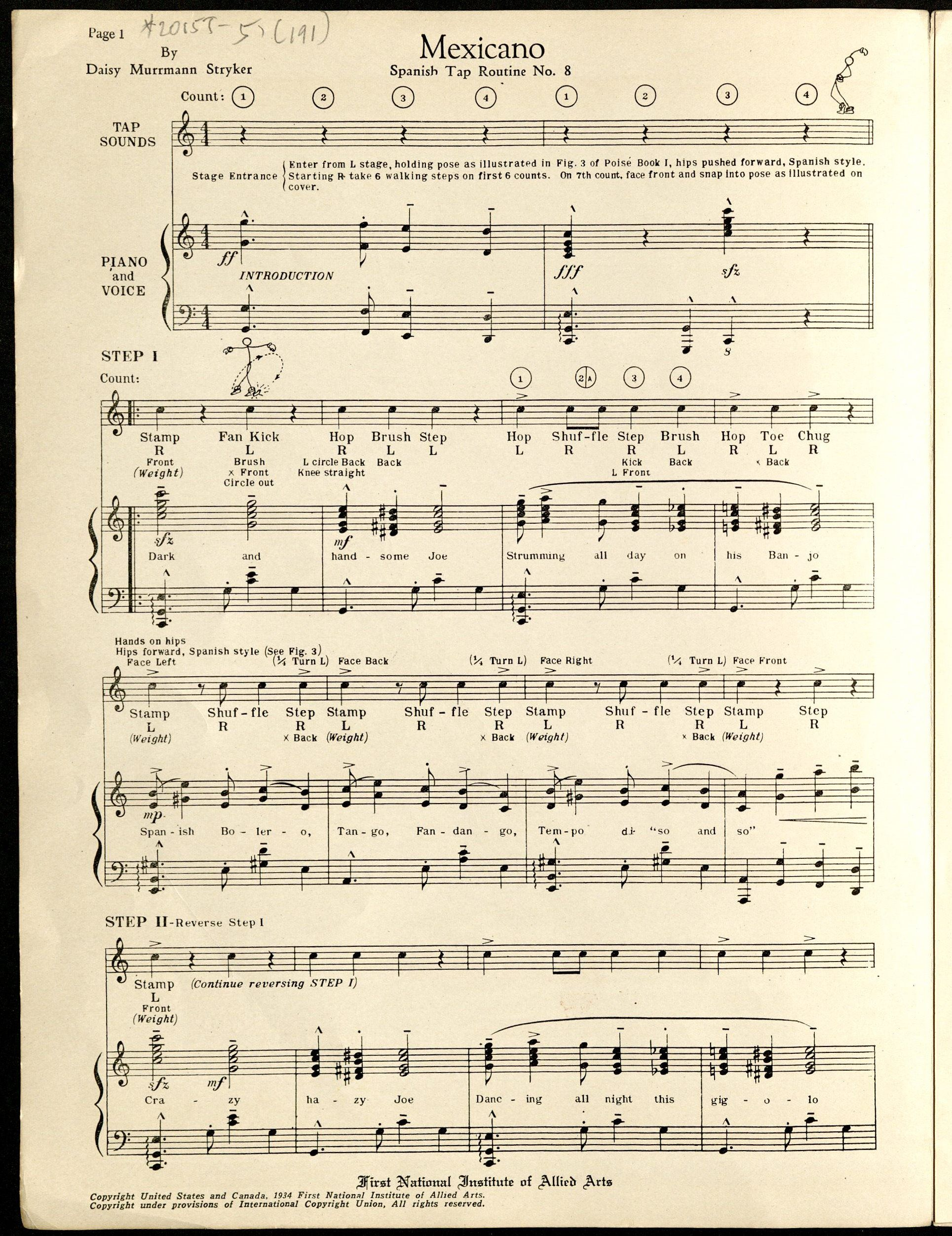 Sheet music 618 caption