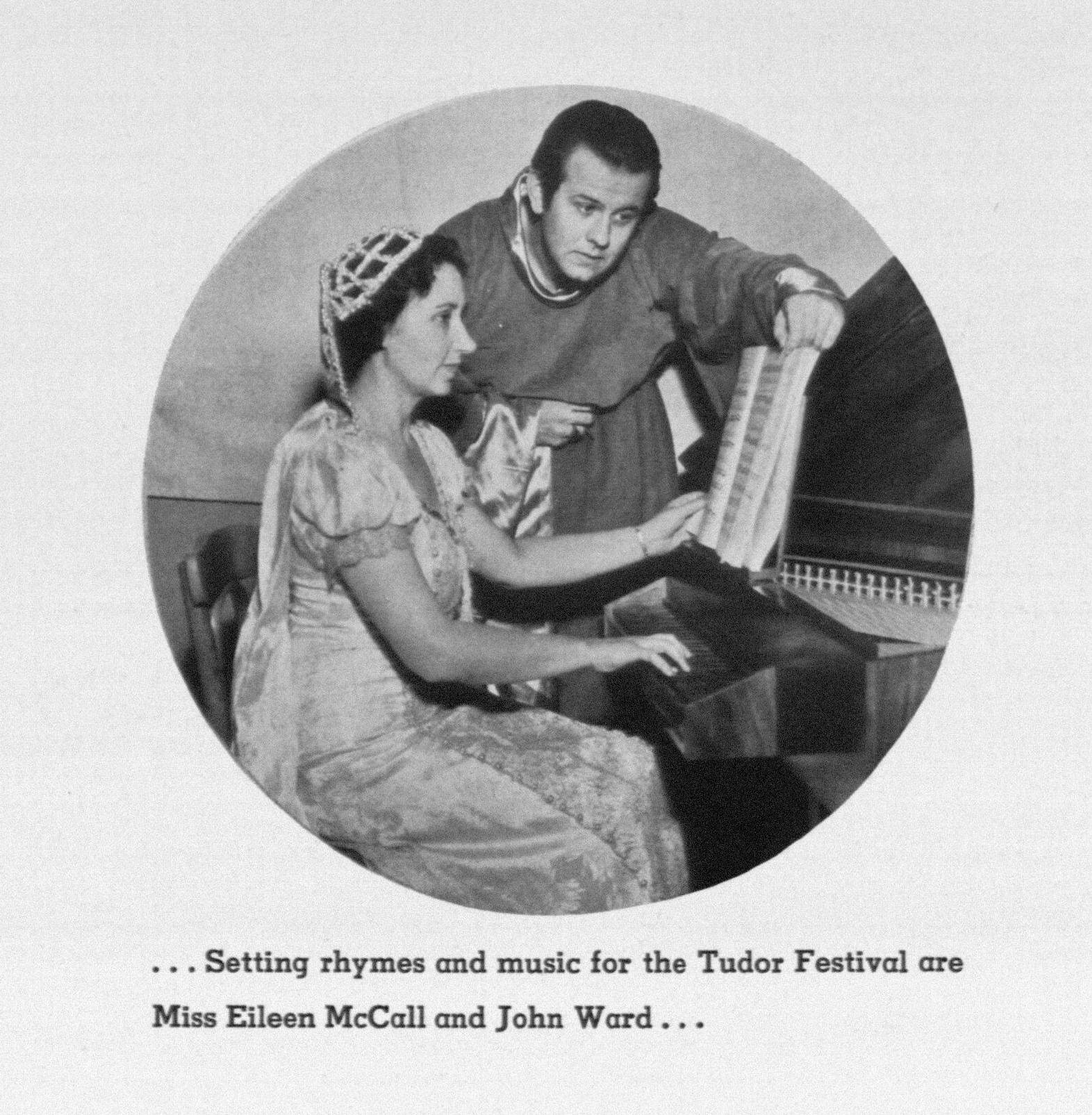 John Ward in 1940, with Eileen McCall, a music professor at San Francisco State College.