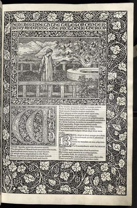 First page of the prologue to the Canterbury Tales.