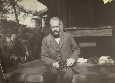 Langdon Warner, 1908, during his first trip to Japan as a Harvard Sheldon Travelling Fellow. Houghton Library, MS Am 3138