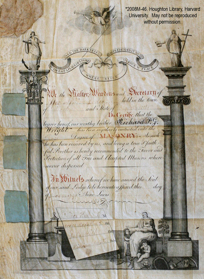masonic certificate template - freemasons for dummies rare prince hall document acquired