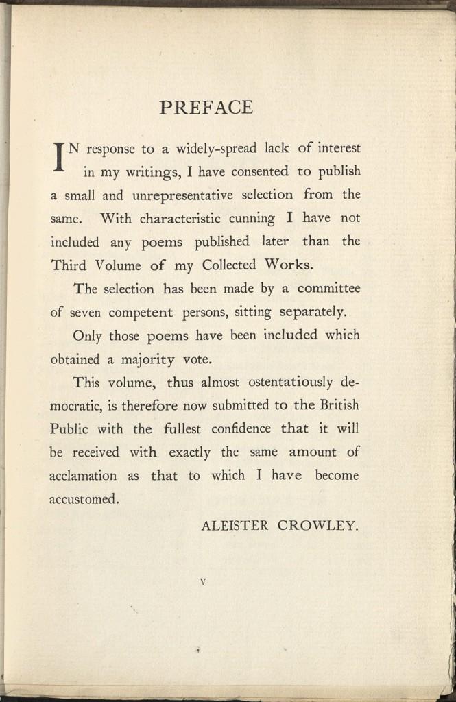 Crowley redux 2