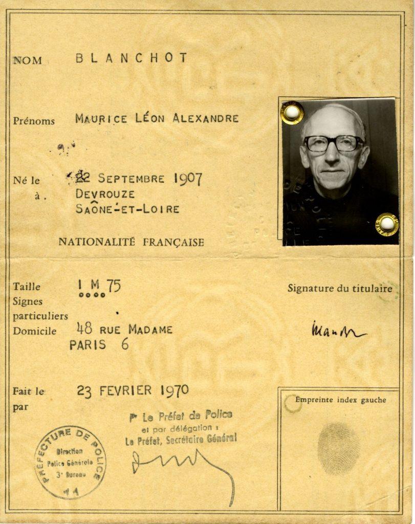 blanchot-identity-card-1970