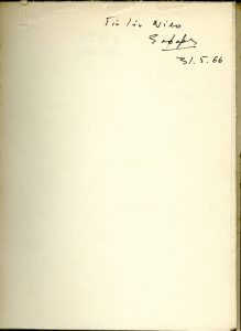 """for Niko, Seferis, 31.5.66"""
