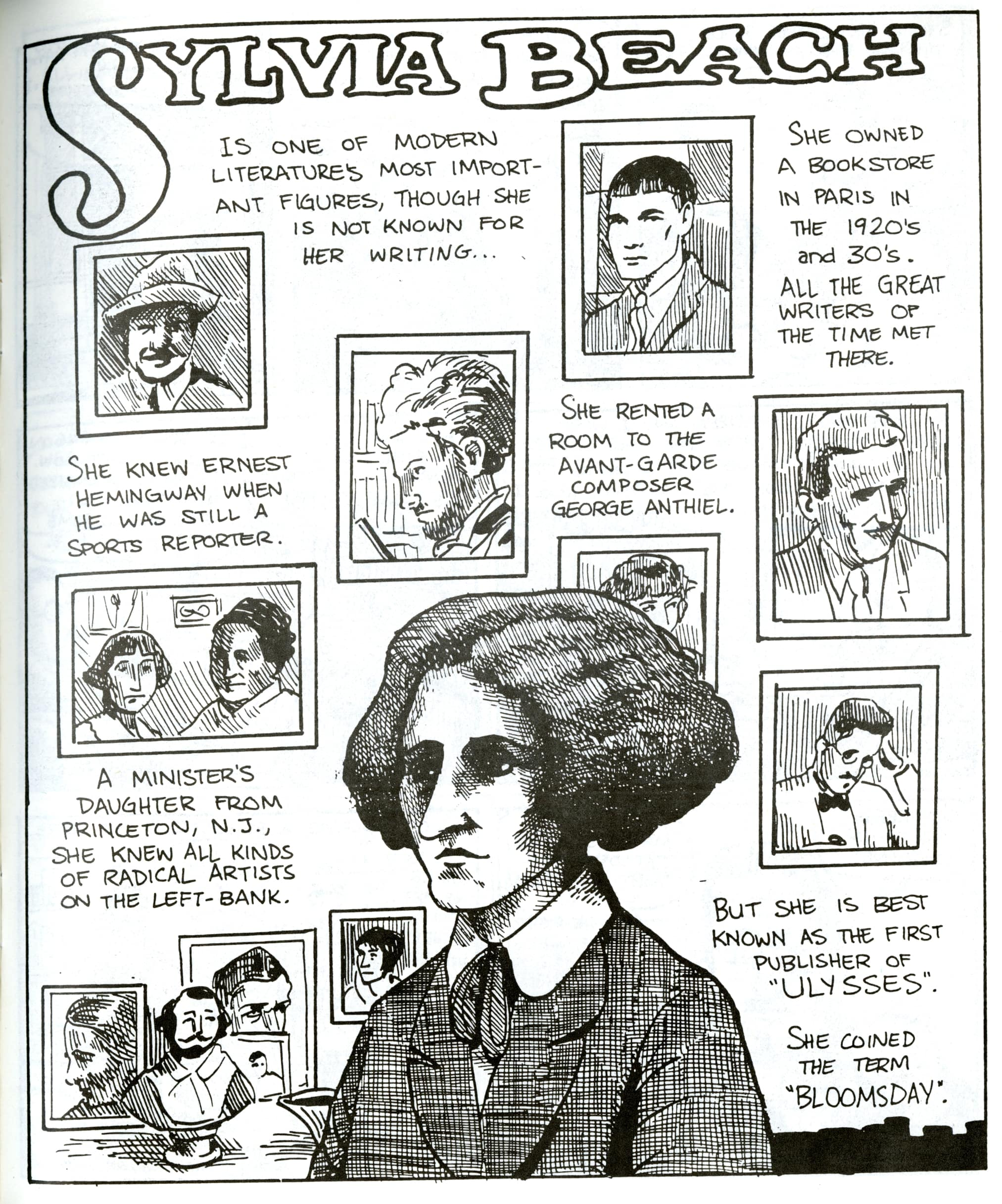 a comic about Sylvia Beach's life & work in Boom Boom #3