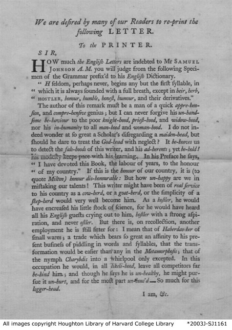 Wilkes letter