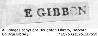 Edward Gibbon Booklabel
