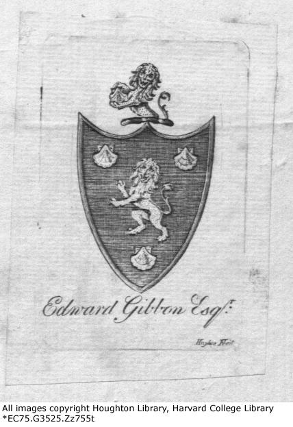 Edward Gibbon Bookplate