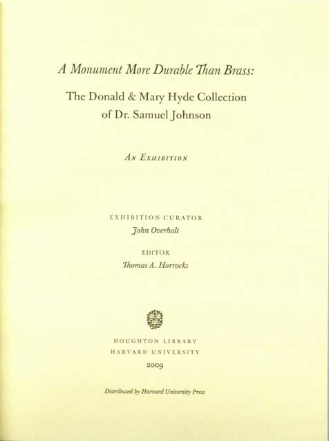 Catalog title page