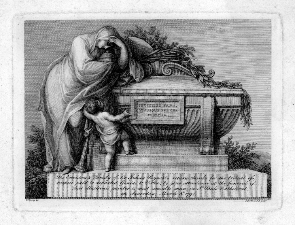 Sir Joshua Reynolds funeral engraving, Houghton *2009-2210