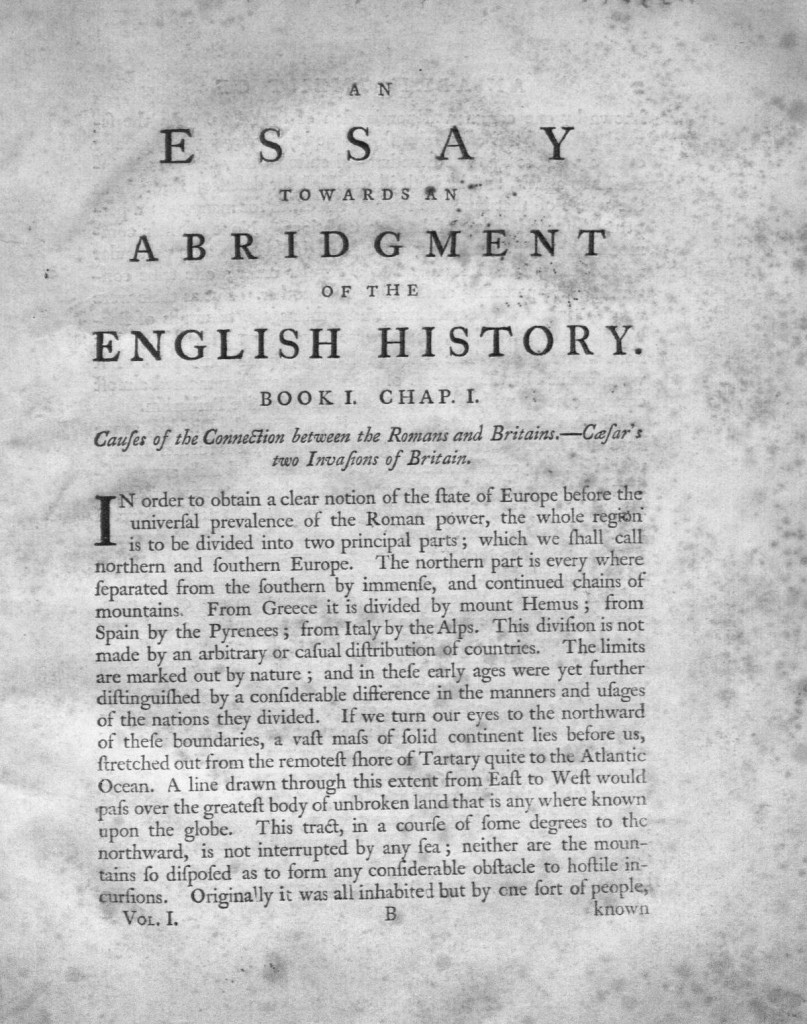 Edmund Burke, An essay towards an abridgment of the English history, *EC75.B9177.760e