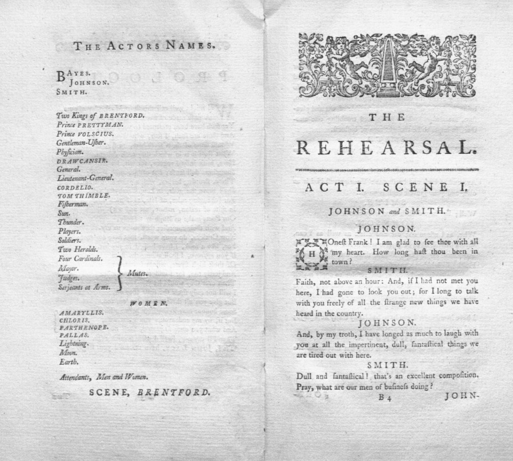 George Villiers, Duke of Buckingham, The Rehearsal, *EC75.P4128.770r