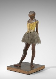 Edgar Degas (French, 1834 - 1917 ), Little Dancer Aged Fourteen, 1878-1881, pigmented beeswax, clay, metal armature, rope, paintbrushes, human hair, silk and linen ribbon, cotton faille bodice, cotton and silk tutu, linen slippers, on wooden base, Collection of Mr. and Mrs. Paul Mellon 1999.80.28