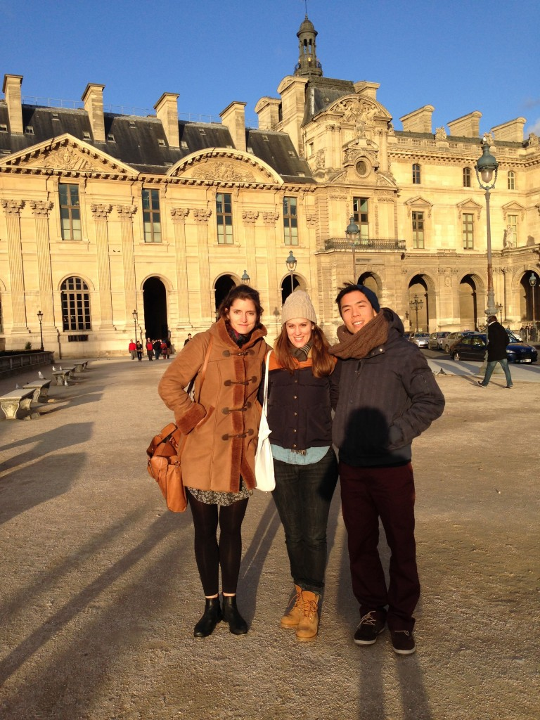 Roxanne, Ursina, and Lam in Paris. Photo courtesy of Ursina Menn.
