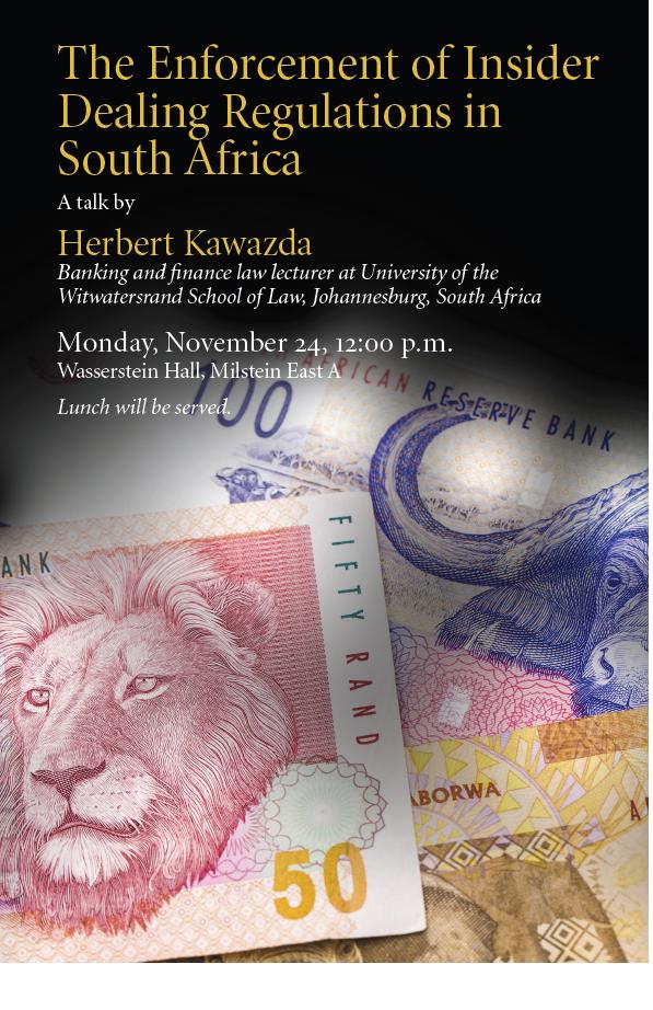 Herbert Kawazda Talk on Monday, November 24, 12 pm
