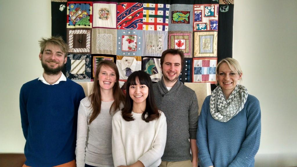 2015 exchange students: Jean, Naomi, Yanzhu, Barrie, Jen