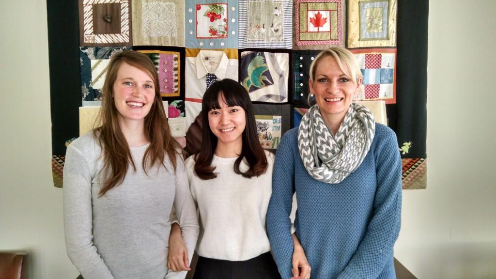 Spring 2015 exchange students: Naomi Hart, Yanzhu Sun, Jen Eborall