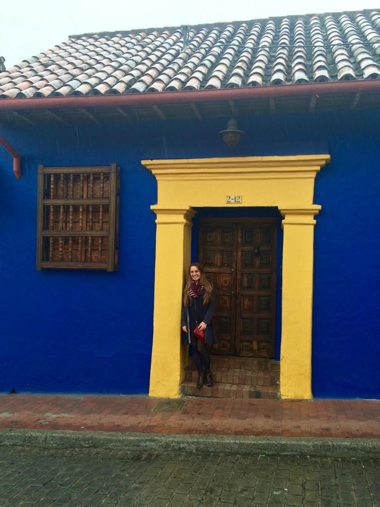Kelsey Jost-Creegan '17 in La Candelaria, Bogota.