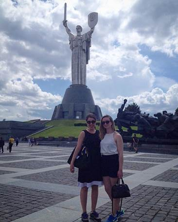 In Kiev with Chayes fellow Lara Townzen '18