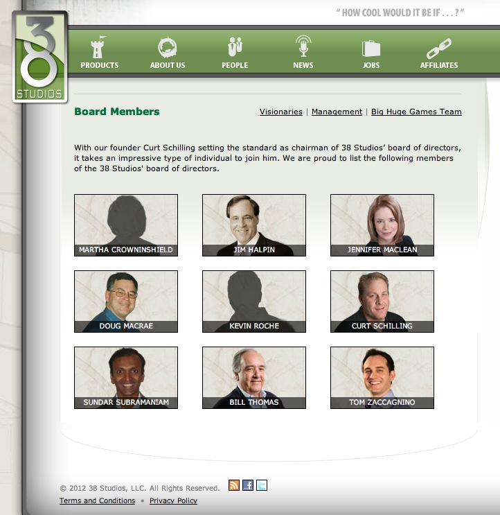 38 Studios Board of Directors