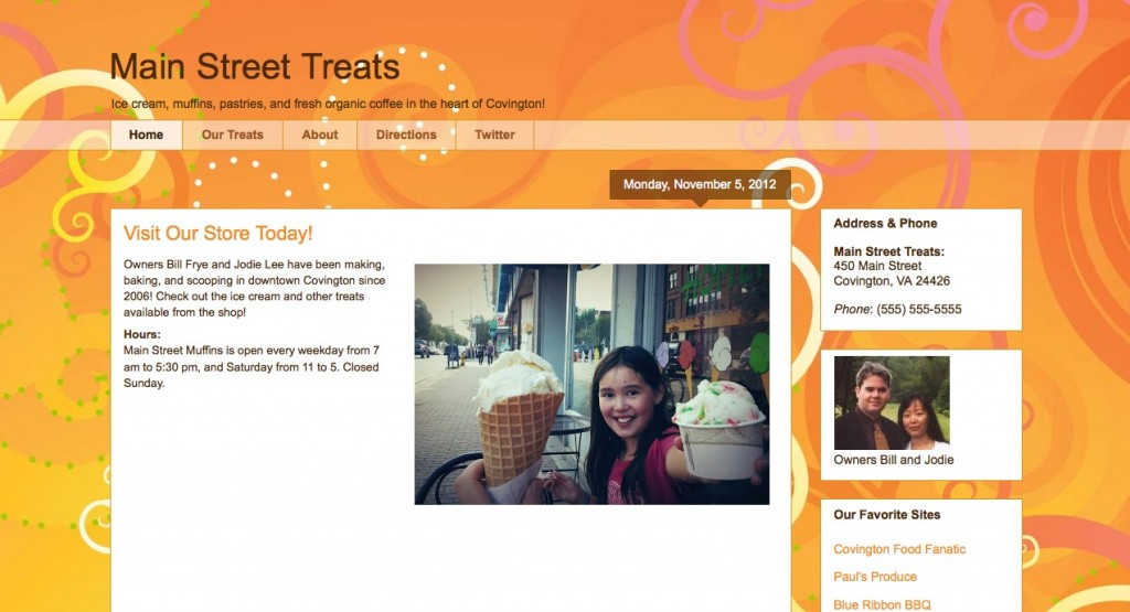 Blogger Template Awesome Inc Orange