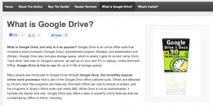 Example of repurposing ebook content: What is Google Drive?