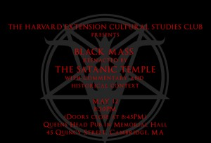 Harvard Black Mass flyer