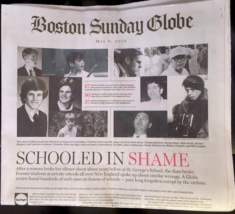 Boston Globe Spotlight report Fessenden School Newton Massachusetts