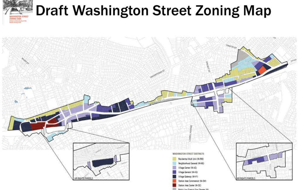 draft washington Street zoning map feb 2019