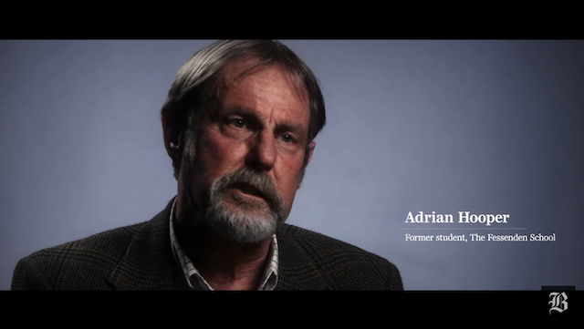Adrian in a Boston Globe video about the Fessenden case
