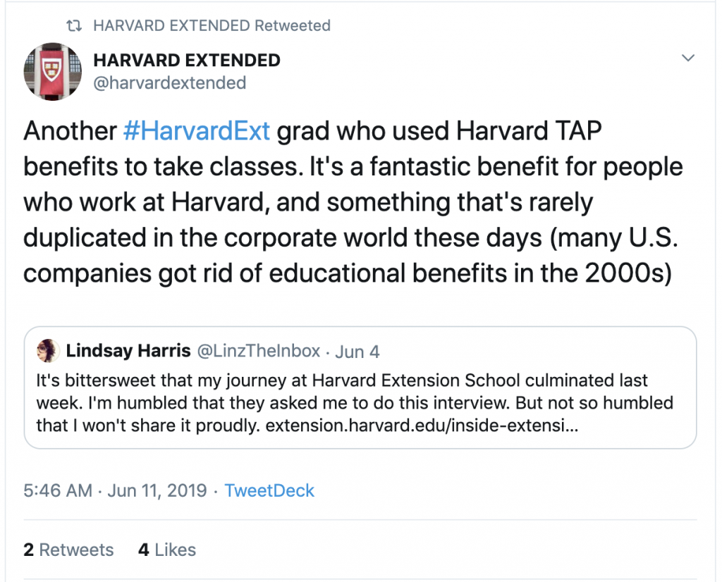 Harvard Extension School TAP