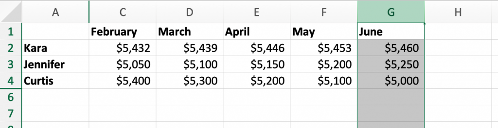 Excel Basics in 30 Minutes sorting example
