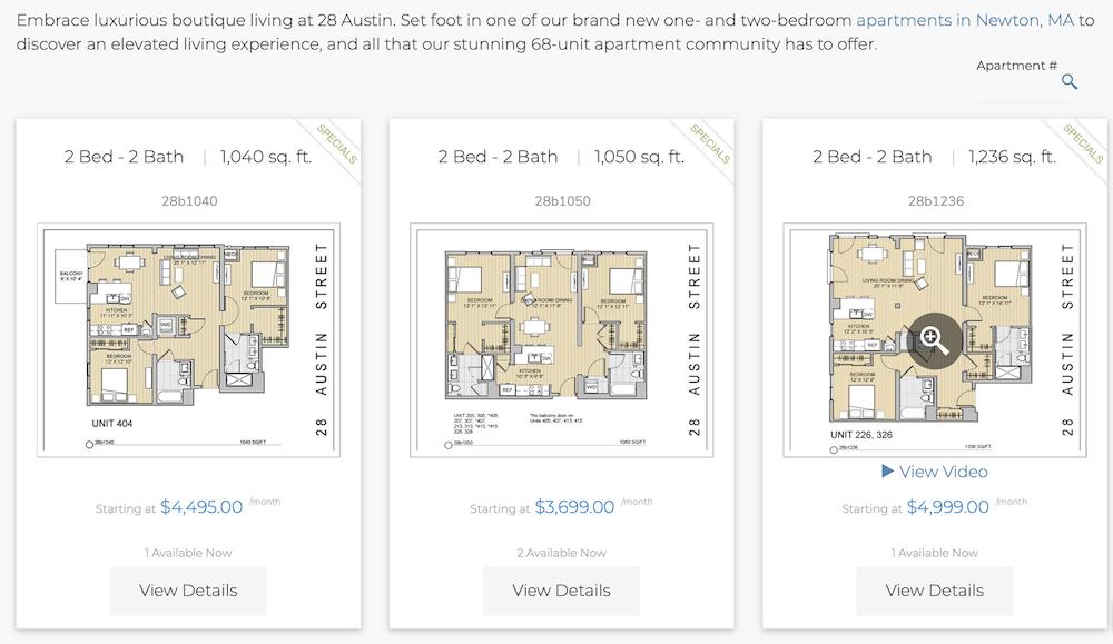 28 Austin Street Newtonville apartment price