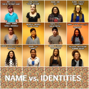 Names and Identities Collage